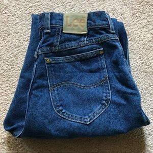 Vintage Lee Blue Jeans, High Waisted, tapered 10P